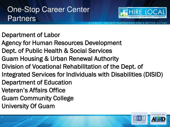 One-Stop Career Center Partners