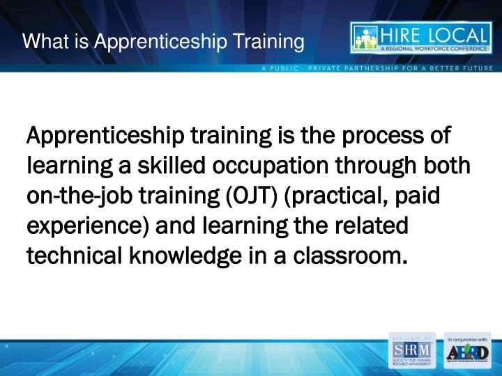 What is Apprenticeship Training