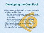 developing the cost pool