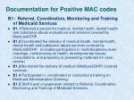 documentation for positive mac codes1