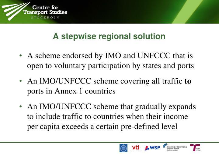 A stepwise regional solution