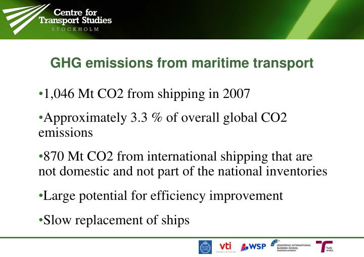 Ghg emissions from maritime transport