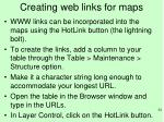 creating web links for maps