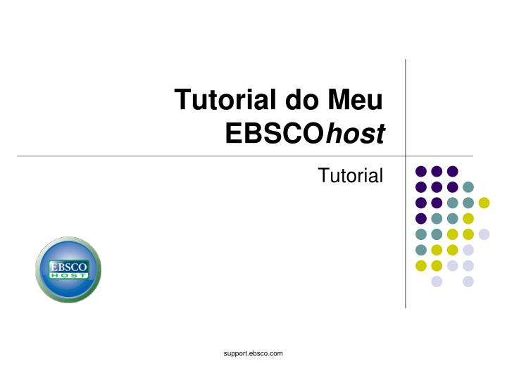 tutorial do meu ebsco host n.