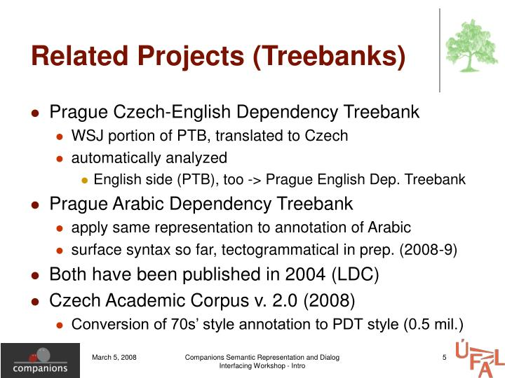 Related Projects (Treebanks)