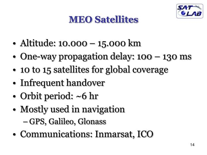 MEO Satellites