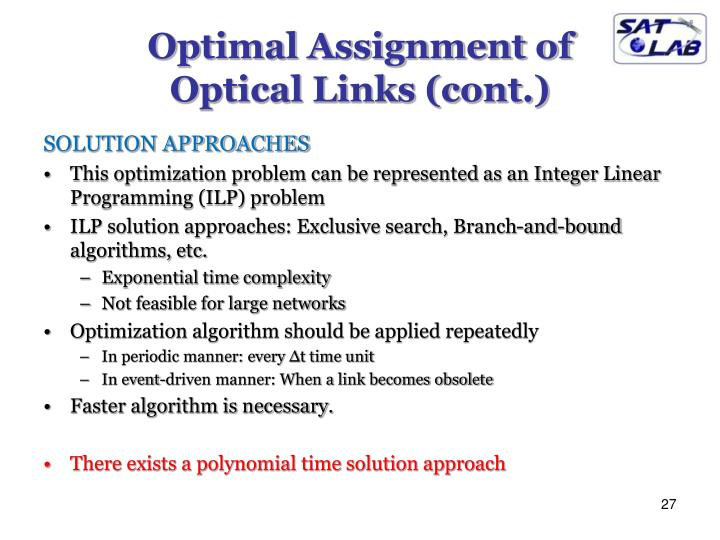 Optimal Assignment of