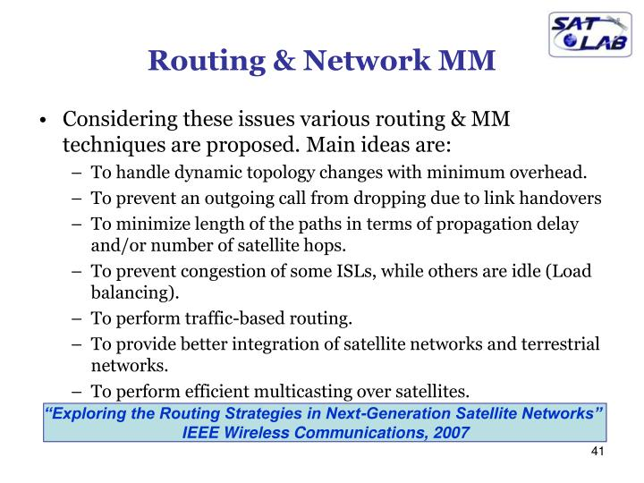 Routing & Network MM