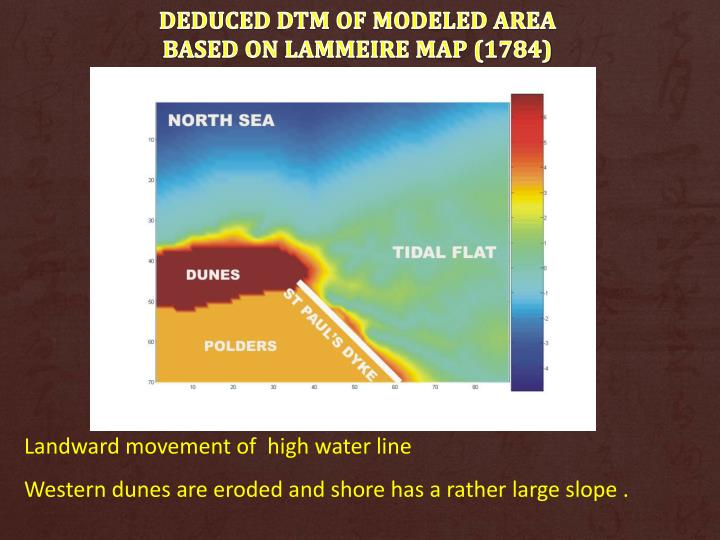 DEDUCED DTM of MODELED AREA