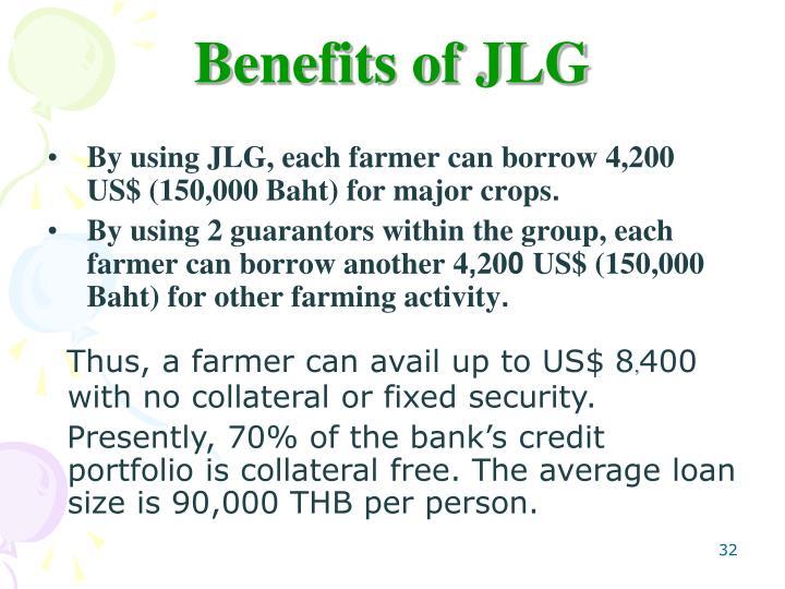 Benefits of JLG