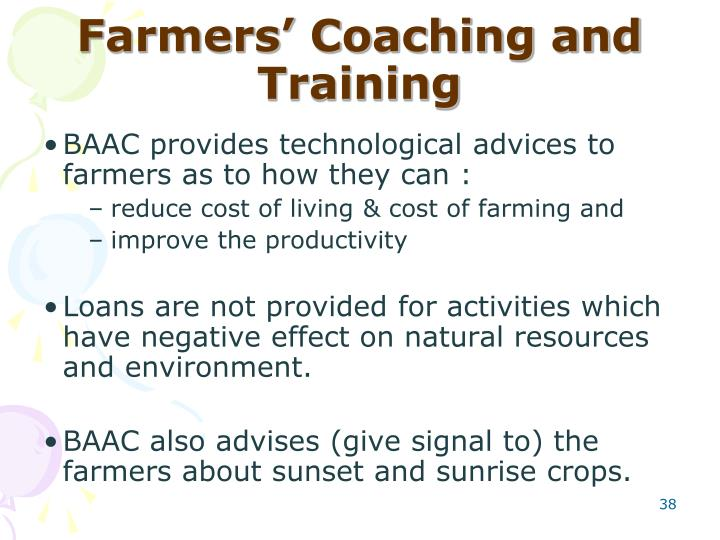 Farmers' Coaching and Training