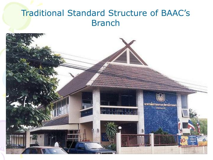 Traditional Standard Structure of BAAC's Branch