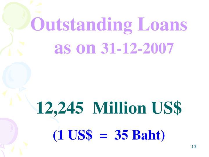 Outstanding Loans as on