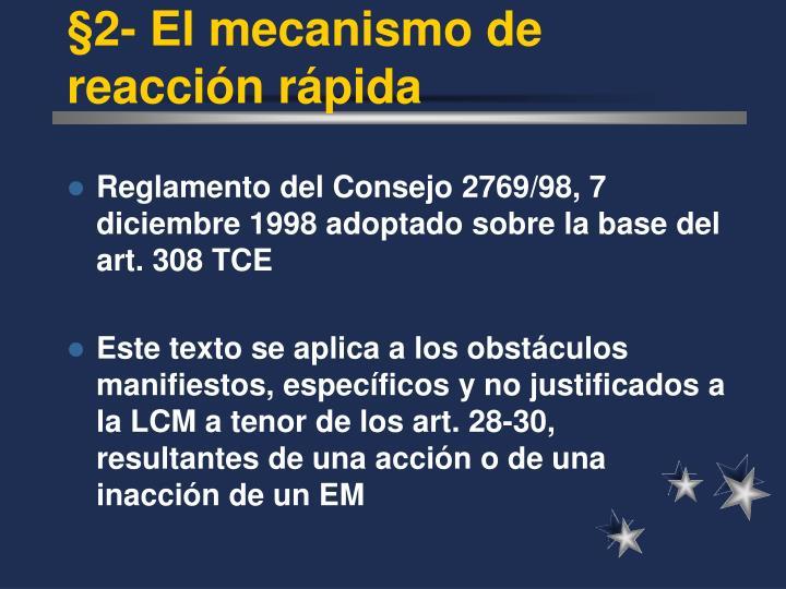 §2- El mecanismo de reacci