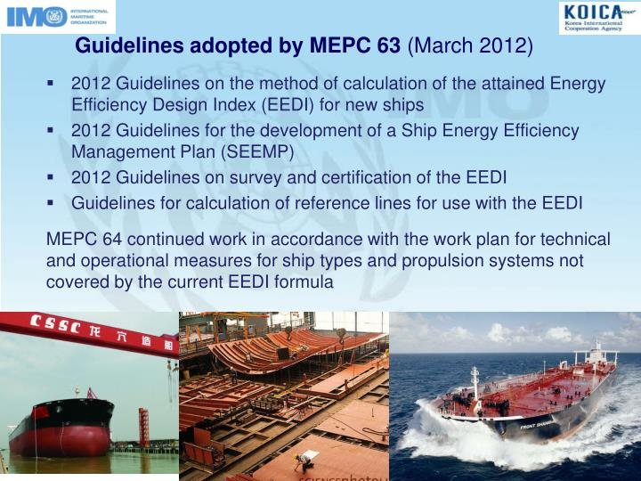 Guidelines adopted by MEPC 63
