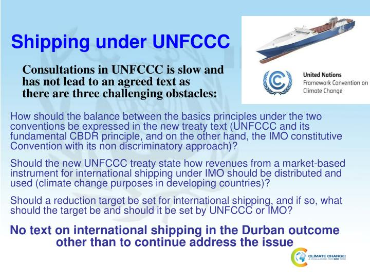 Shipping under UNFCCC