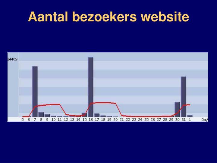 Aantal bezoekers website