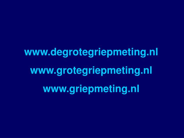 www.degrotegriepmeting.nl