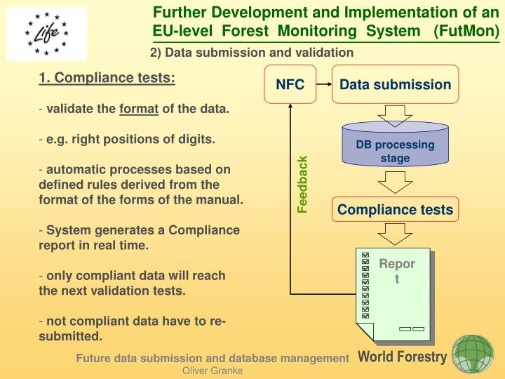 2) Data submission and validation