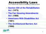 accessibility laws