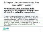 examples of most common site plan accessibility issues