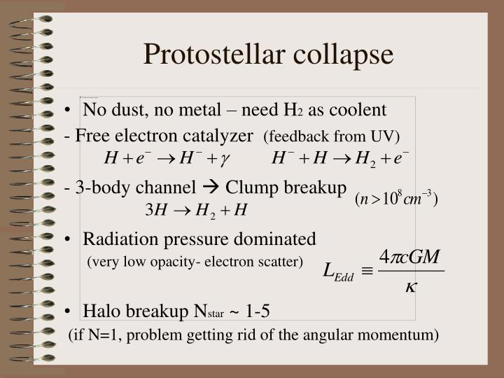 Protostellar collapse