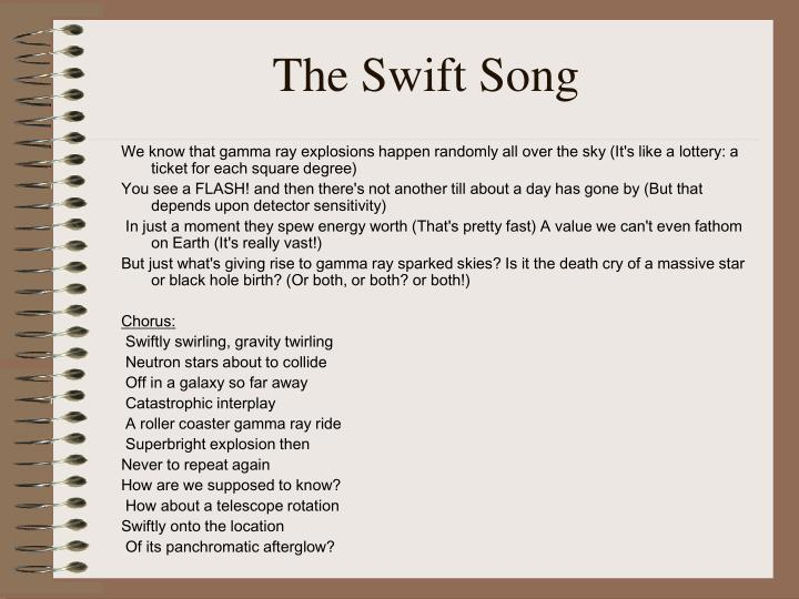 The Swift Song