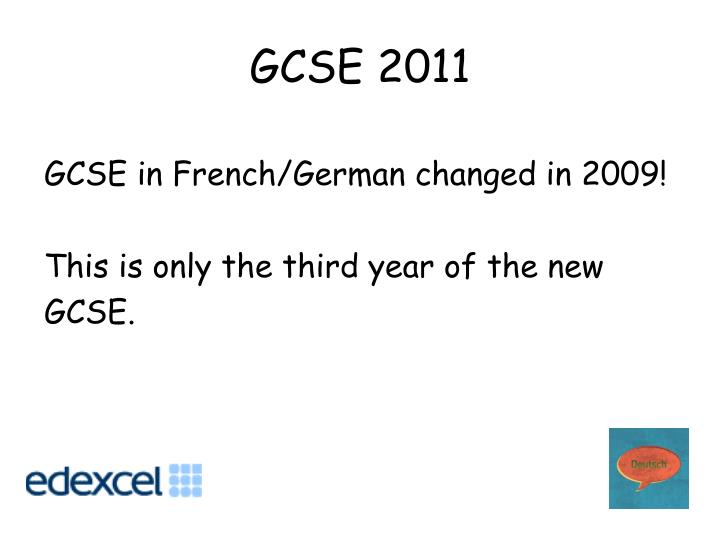 Gcse 2011