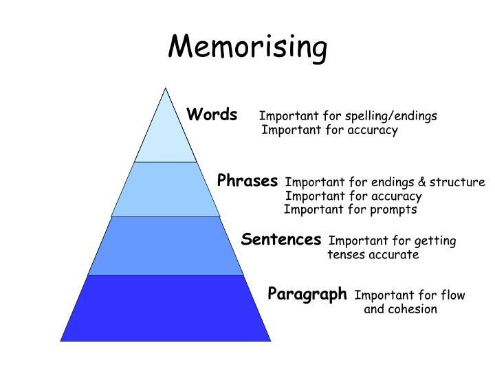 Memorising