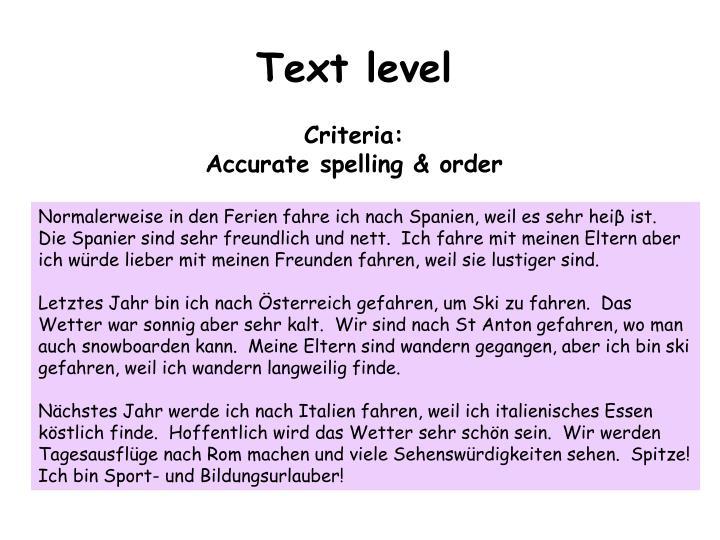 Text level