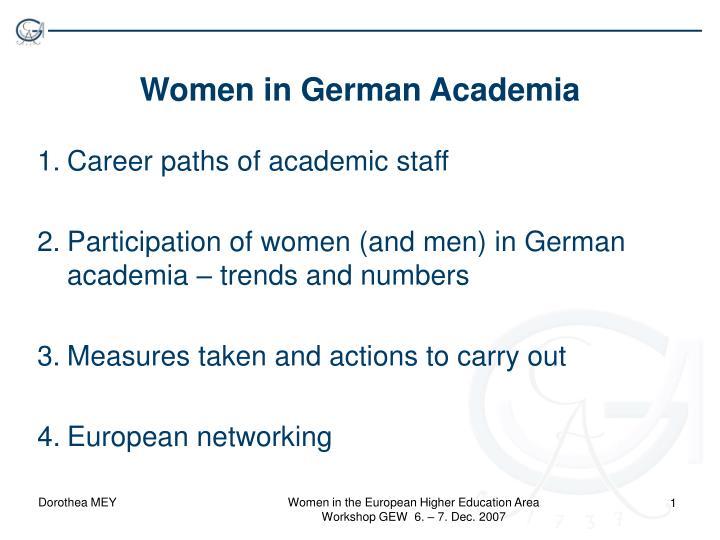 women in german academia n.