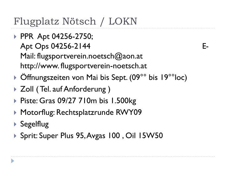 Flugplatz Nötsch / LOKN