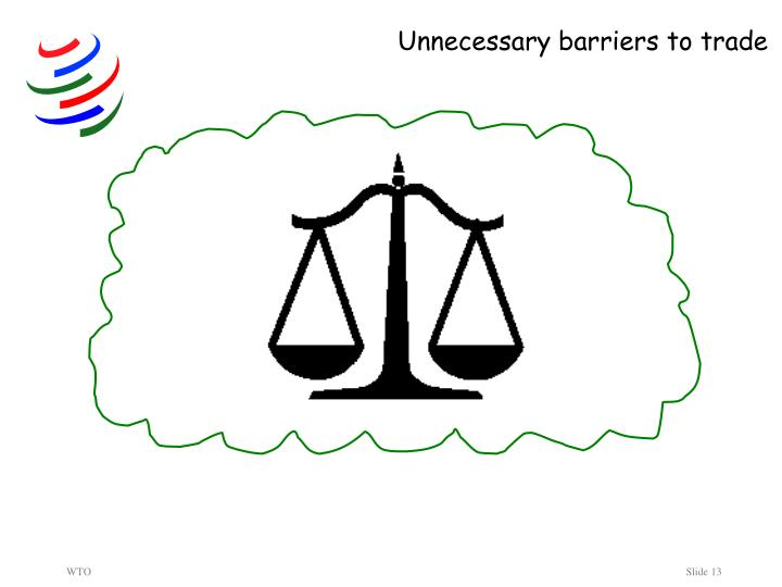 Unnecessary barriers to trade