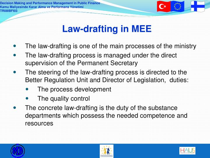 Law drafting in mee