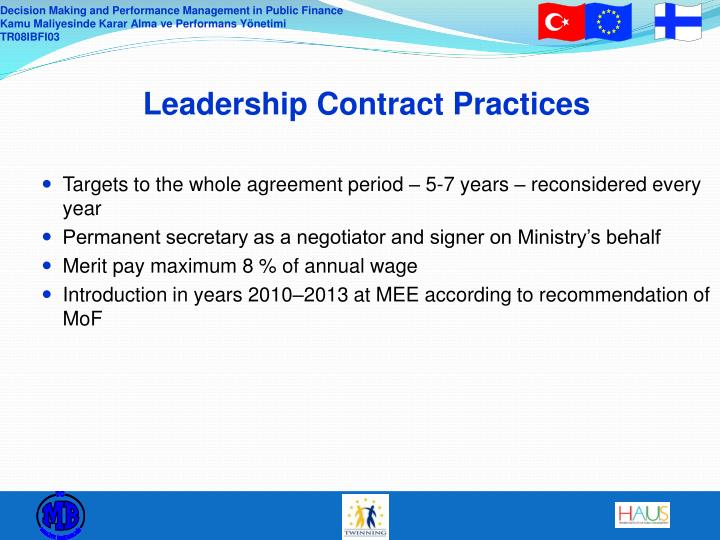 Leadership Contract Practices
