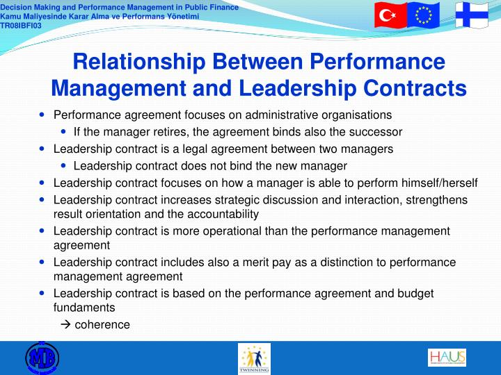 Relationship Between Performance Management and Leadership Contracts
