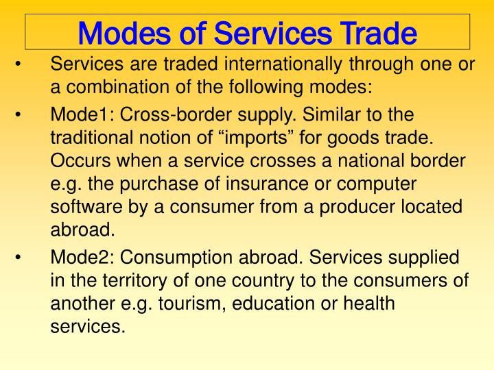Modes of Services Trade