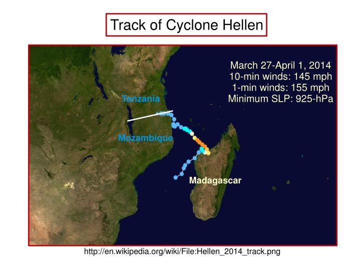 Track of Cyclone Hellen