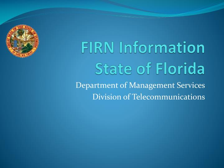 firn information state of florida n.