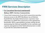 firn services description13