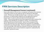 firn services description22