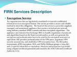 firn services description24