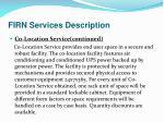 firn services description7