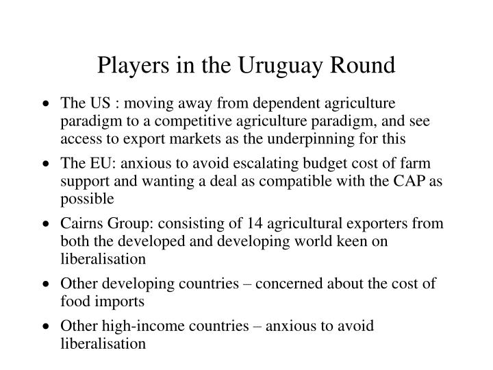 Players in the Uruguay Round