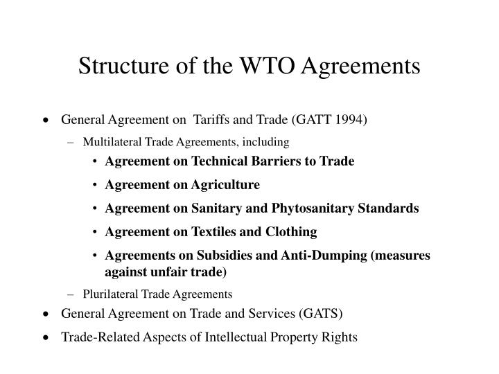 Structure of the WTO Agreements