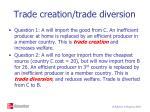 trade creation trade diversion