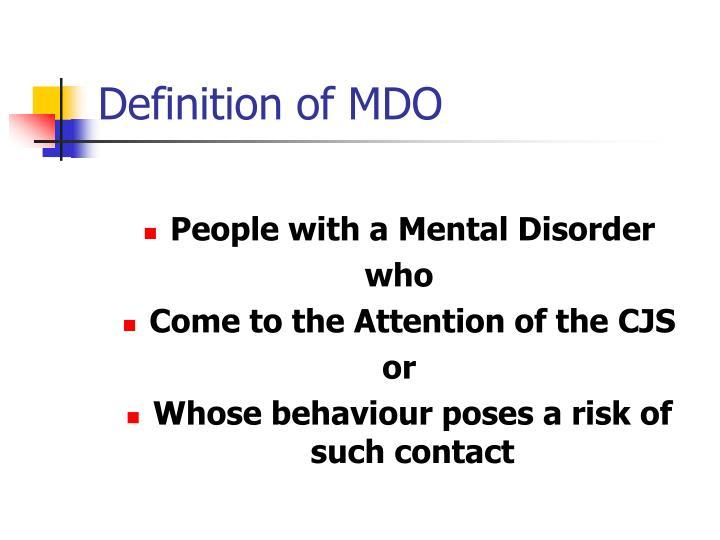 Definition of mdo