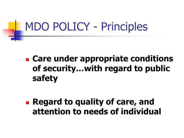 Mdo policy principles