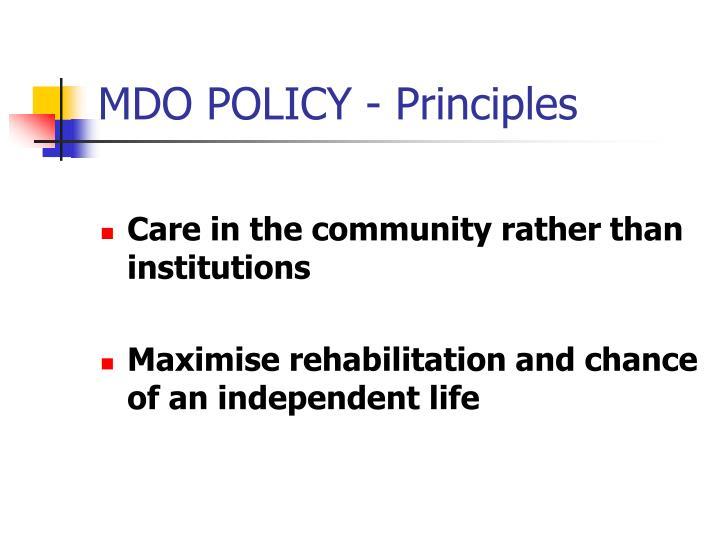 MDO POLICY - Principles