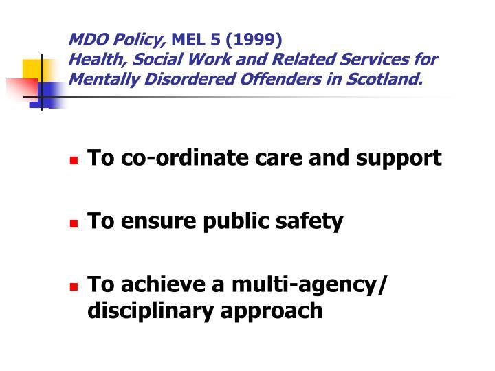 MDO Policy,